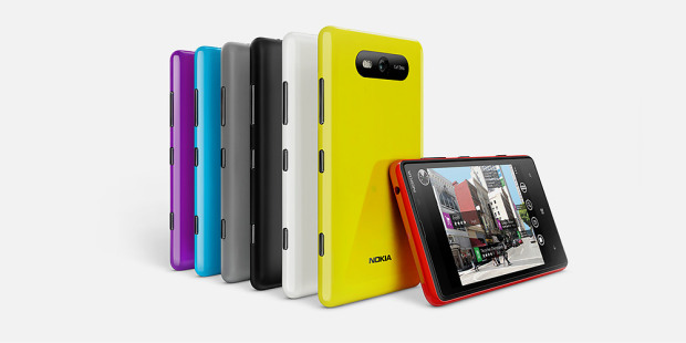 Nokia Lumia 820 in it's miniature multicoloured glory!